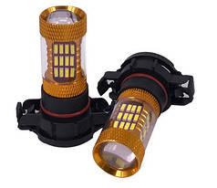 Светодиодная лампа H16 LED с линзой противотуманка 12V, автолампа для птф 5Вт