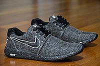 Кроссовки мужские найк Nike джинсовые темно серые  (код 382) - чоловічі кросівки найк Nike джинсові темно сірі