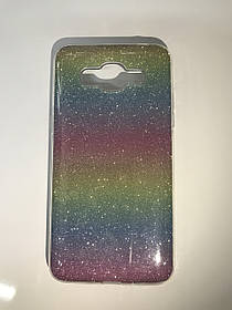 TPU + PC Силикон LGD Gloss Series for Samsung G570 / Galaxy J5 Prime (2016) Rainbow (радужный)