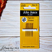Набор коротких гобеленовых игл John James №24 ( Tapestry Petite)
