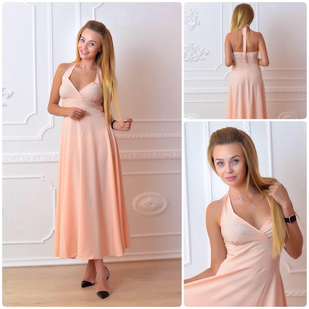 Платье, модель М2, цвет - персик