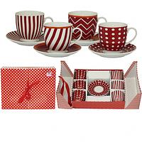 022-12-16 Сервиз кофейный 12пр. Red style (чашка-190мл, блюдце-12,5см)