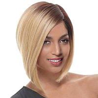 Короткое боковое разделение Straight Ombre Bob Синтетический парик коричневый+золотистый