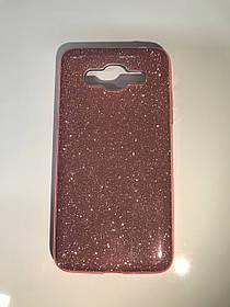 TPU + PC Силикон LGD Gloss Series for Samsung G570 / Galaxy J5 Prime (2016) Pink (розовый)