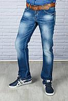 Мужские стильные джинсы с ремнём