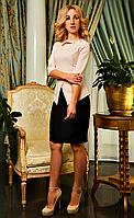 """Деловое женское платье """" Лиза """" цвета пудры в большом размере"""