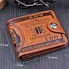 Чоловічий гаманець 100$ Brown MG, фото 8