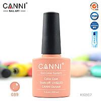 Гель-лак Canni 89 темно-карамельный 7.3ml