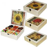740-007 Коробка для сладостей /чая Украина 24х24х7,5 см