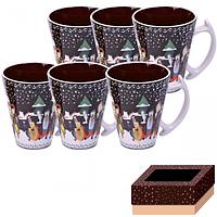 7239 Набор чашек 6 шт 350 мл  Наши традиции/Рождественская ночь