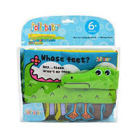 Jollybaby 3D Book Крокодил Baby Touch Раннее образование Ткань Книга 20 см / 7.9 дюйма