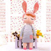 Мягкие плюшевые животные Мультфильмы Детские игрушки для девочек Дети Детский подарок на день рождения Анжела Кролик Серый