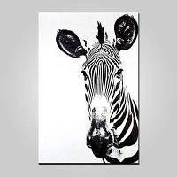 Mintura Современная вертикальная масляная живопись Zebra Hanging Wall Art Цветной