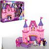 Замок SG-2978 принцессы,25-29-5см,муз,св, мебель,фигур,карет, на бат-ке(таб),в кор-ке,44-31-7см