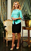 """Деловое женское платье """" Луиза """" цвета мяты"""