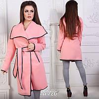 Волшебное пальто Ella с шыкарным отложным воротником и поясом в комплекте (8 цветов) (145)726