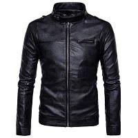 Новые мужские пальто S Случайные All-Match кожаная куртка PY XL