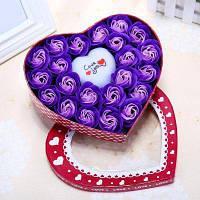 Led Flash Light Heart and Soap Roses в коробке День Святого Валентина Подарок 21*19*4.5 см