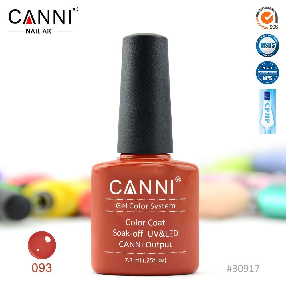 Гель-лак Canni 93 розово-красный 7.3ml