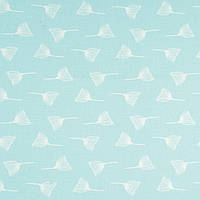 Ткань, хлопок премиум класса одуванчики на пудрово-мятном фоне №2-665
