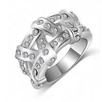 Женское кольцо Стильное хрустальное подвесное кольцо Серебристый