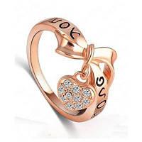 Женское кольцо Стильный носовой наконечник Love Heart Pattern Lettering Accessory Розовый золотой