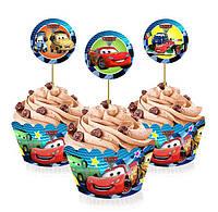 """Топперы для капкейков, десертов и кексов """"Тачки"""", 6 шт./уп."""