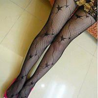 E0846 Черные Сексуальные Колготки Колготки Fishnet Чёрный