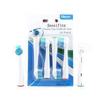 Чистые головки зубной щетки Sensiflex HX2012SF Глубокая очистка для чипсетов с электрическими зубными щетками Philip Белый