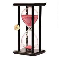 POSCN 15 минут Прочные стеклянные песочные часы Black Wood Sand Timer для управления временем LP9007-0007 Розовый