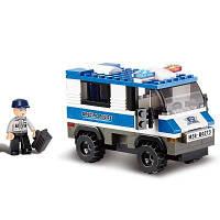 Sluban Building Blocks Обучающая детская игрушка Специальный военнопленный из полиции города 126 шт. Синий