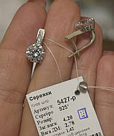 Сережки срібло серьги серебро 5427 родированные