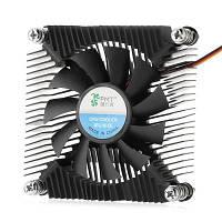 Ультратонкий процессорный кулер с медным сердечником охлаждающий вентилятор охлаждения процессора Серебристый