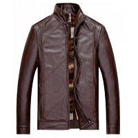 Весенний новый мужской повседневный воротник Короткая кожаная куртка P9 XL
