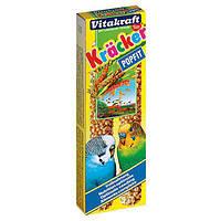 Крекер Vitakraft для волнистых попугаев со злаками и медом, 2 шт