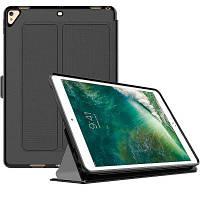 Смарт-чехол для iPad Pro 9,7-дюймовый кожаный чехол с кожаной книгой с трифоном Чёрный