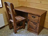 Стол письменный по старину с элементами ковки