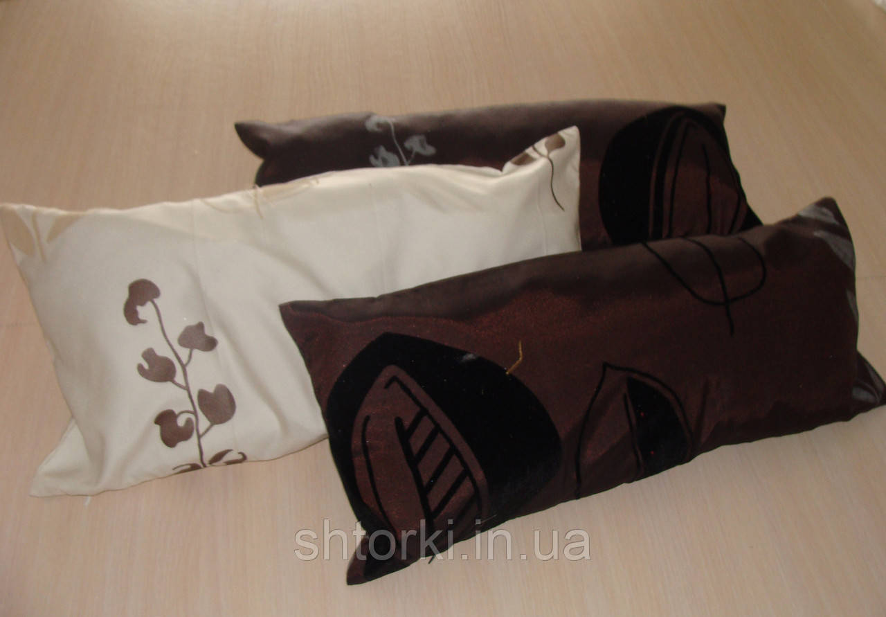 Комплект подушек  бордовые с черным, 3шт