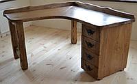 Стол письменный угловой в стиле рустик
