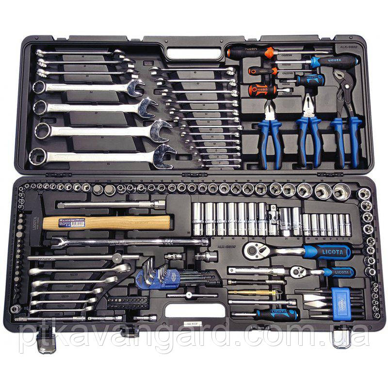 """Набор инструмента 1/4"""" и 1/2"""" 6 гр. 167 предметов LICOTA ALK-8023F"""
