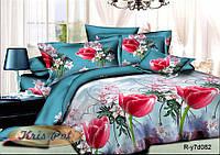"""Комплект постельного белья двуспальный, ранфорс, 3D """"С 8 Марта"""""""