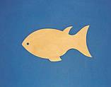 Рибка (Риба) №2 панно (дощечка) заготівля для декупажу та декору, фото 2