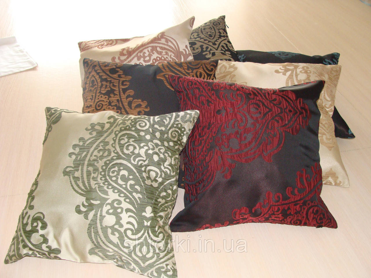 Комплект подушек цветные узоры,  7шт 40х40