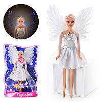 Кукла DEFA 8219  ангел, свет, в слюде, 33-21-7см