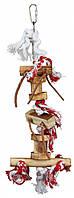 Игрушка Trixie Wooden Toy on Rope для птиц деревянная на канате, 35 см