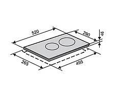 Варочная панель стеклокерамическая белая VENTOLUX VB 62 TC WH, фото 3