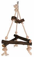 Игрушка Trixie Swing on Rope для птиц деревянная, 27х27х27 см