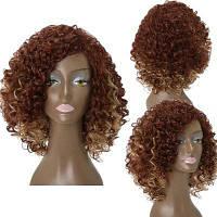 Средние стороны взрыва Лохматый кудрявый вьющийся Colormix синтетический синтетический парик 14дюймов