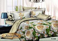"""Комплект постельного белья двуспальный, ранфорс, 3D """"Оливия"""""""