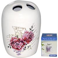 888-02-002 Подставка для зубных щеток 'Цветы' 7*10 см